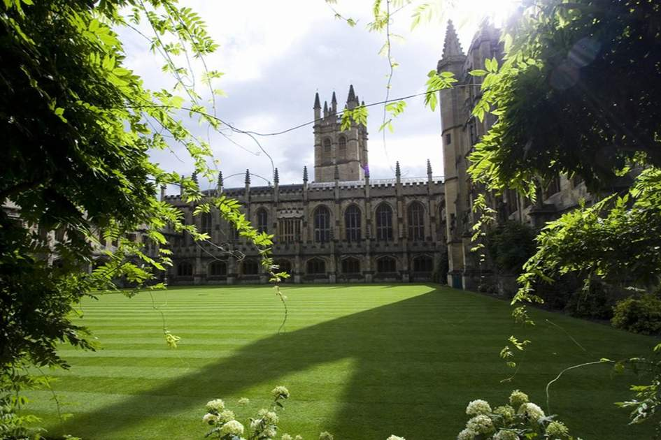 Magdalen college in Oxford, Great Britain.