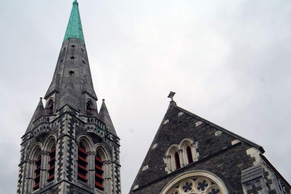 Christchurch cathedral before the earthquake, (photo by Andy Belcher)