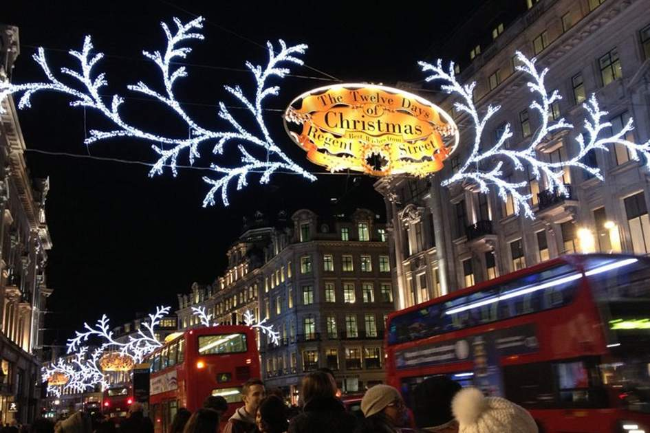 Christmas lights on Regent Street, London 2012, (photo by Alexander Knights)