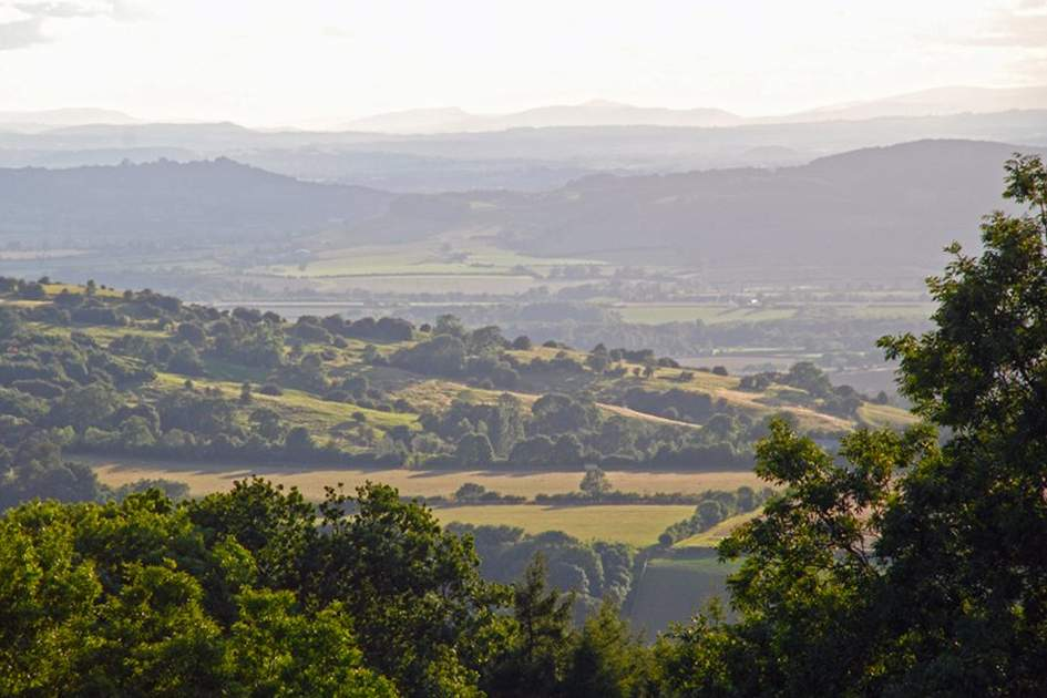 The Cotswold landscape, (photo by Halliday)