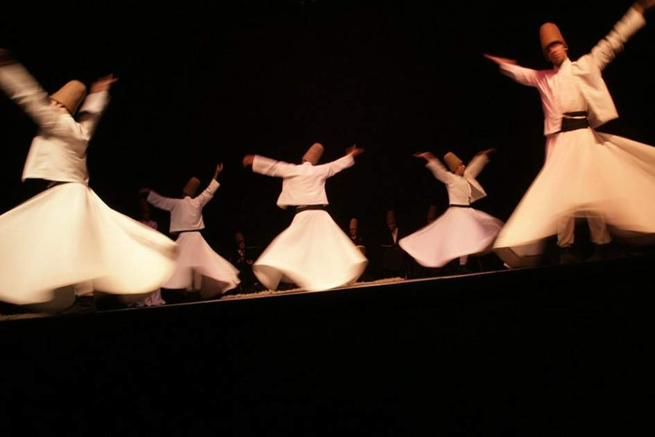 The whirling dervishes, (photo by Rebecca Erol)