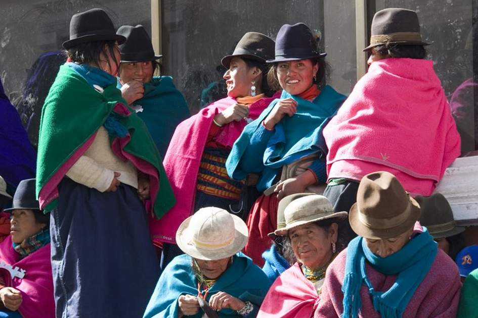 Women in Ecuador, (photo by Corrie Wingate)