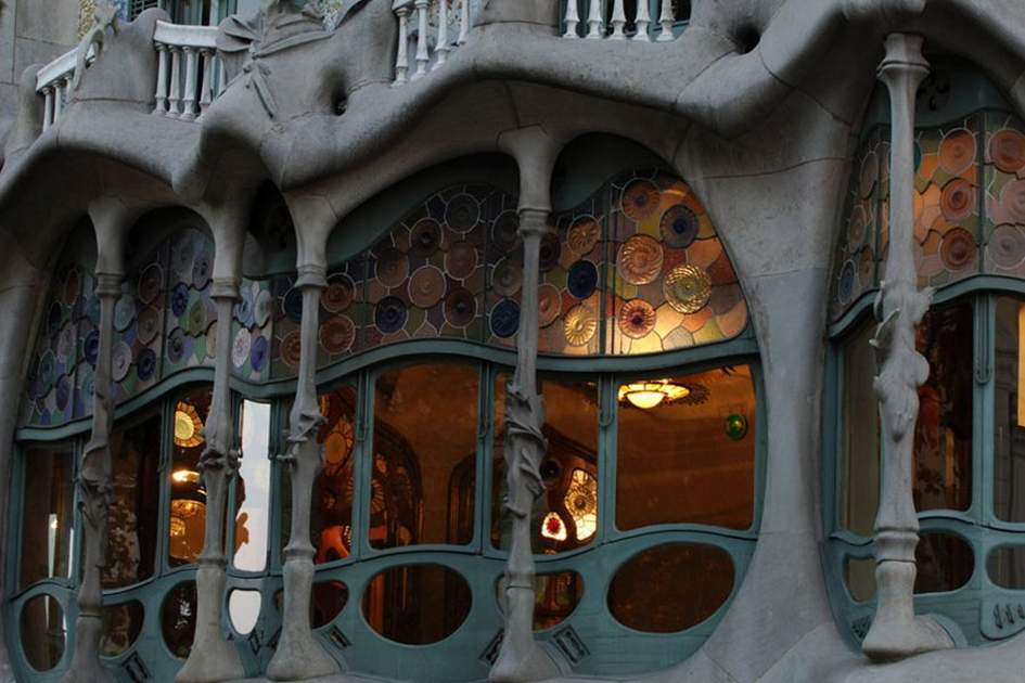 Gaudí's Casa Batlló, L'Eixample, Barcelona, Catalunya, Spain, (photo by Gregory Wrona)