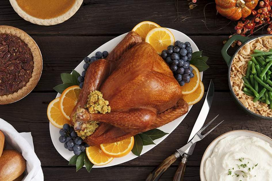 Thanksgiving turkey with side items, (photo by Istock)