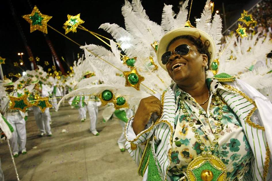 Carnival parade at the Sambodrome, Rio de Janeiro, Brazil., (photo by Yadid Levy)