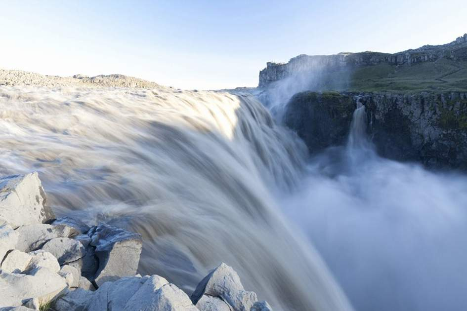 Dettifoss waterfall, northeast Iceland, (photo by Ming Tang-Evans)