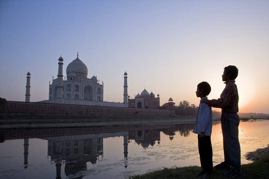 The Taj Mahal, Agra, (photo by Julian Love)
