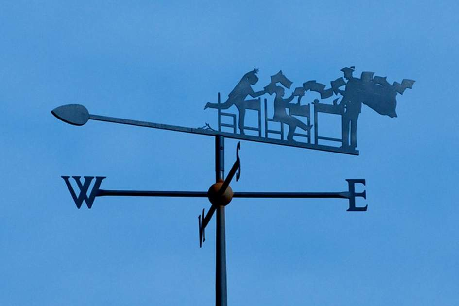 A weather vane, (photo by Apa Publications)