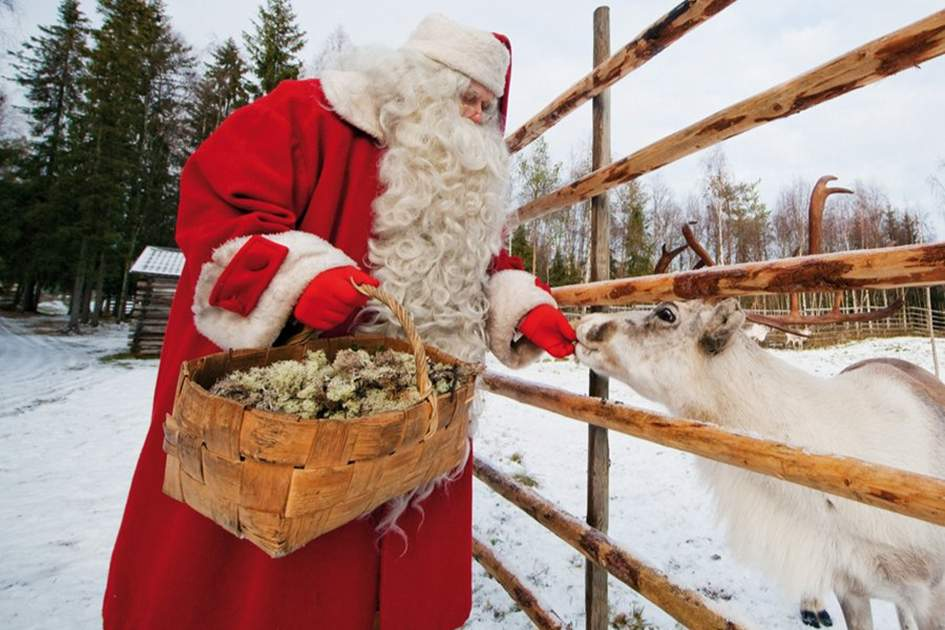 Santa and his companions, (photo by VisitFinland.com)